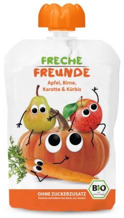 """Freche Freunde """"Apfel, Birne, Karotte & Kürbis"""" BIO 6x100g"""