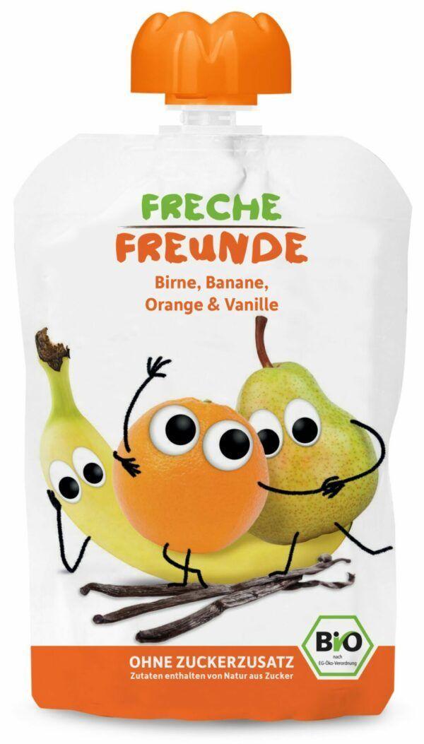 Freche Freunde Quetschie Birne, Banane, Orange & Vanille 6x100g