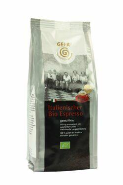 GEPA - The Fair Trade Company Italienischer Bio Espresso 250 g: extrafein gemahlen 6x250g