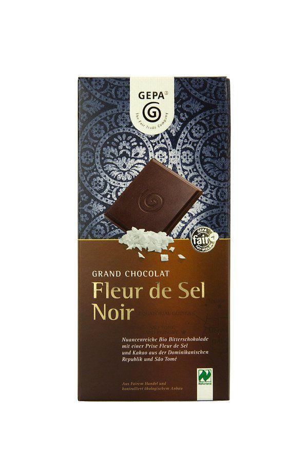GEPA - The Fair Trade Company Bio Schokolade Fleur de Sel Noir 70% 10x100g