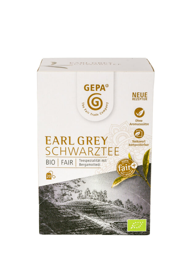 GEPA - The Fair Trade Company Bio Schwarztee Earl Grey Teebeutel 34g