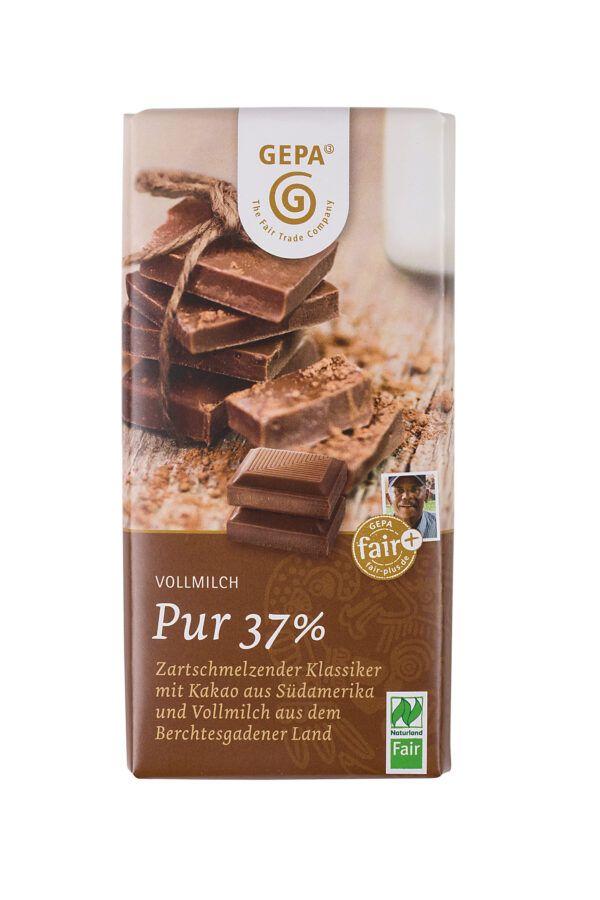 GEPA - The Fair Trade Company Vollmilch pur 37% 10x100g