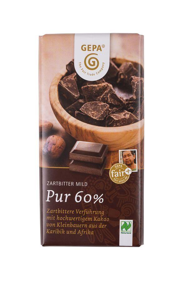 GEPA - The Fair Trade Company Zartbitter Pur 60% 10x100g