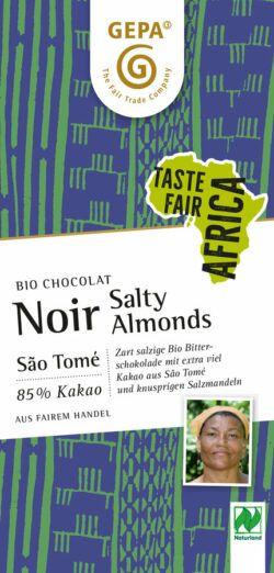 GEPA - The Fair Trade Company Bio Chocolat Noir Salty Almonds NL 10x80g