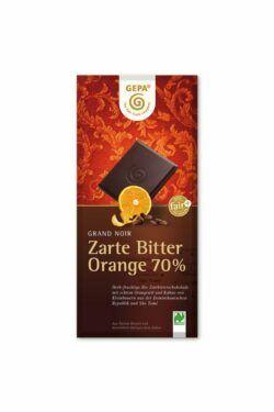 GEPA - The Fair Trade Company Zarte Bitter Orange 70 % 10x100g