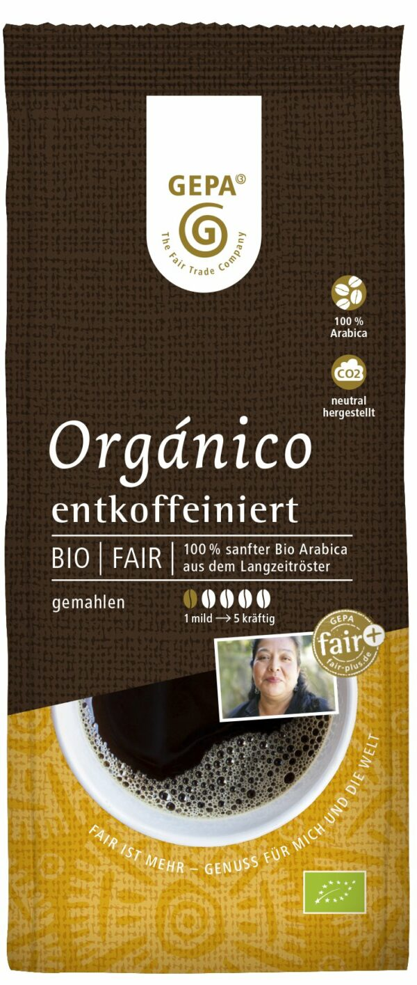 GEPA - The Fair Trade Company Bio Café Orgánico, gemahlen, entkoffeiniert 6x250g