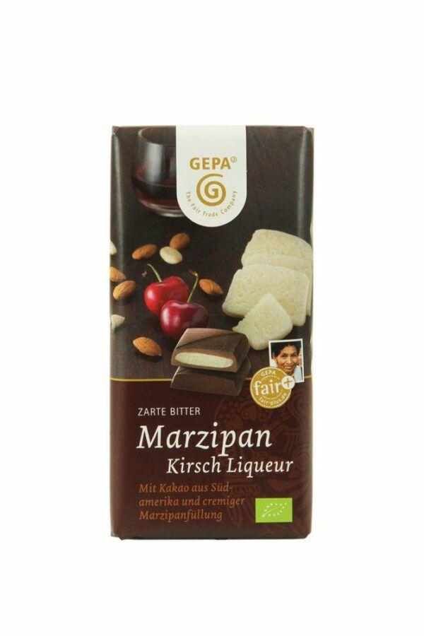 GEPA - The Fair Trade Company Marzipan Kirsch Liqueur Bio Schokolade 10x100g