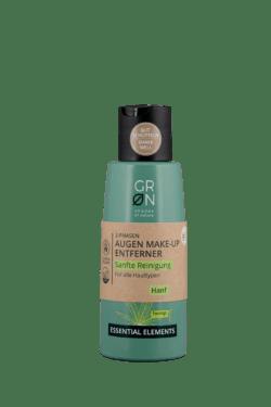 GRN [GRÜN] Augen Make-up Entferner Sanfte Reinigung Bio-Hanf - Essential Elements 125ml