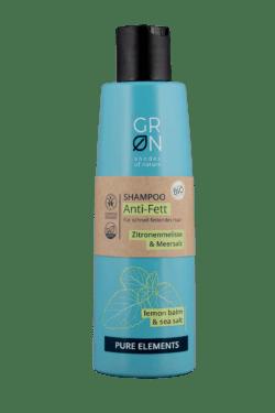 GRN [GRÜN] Shampoo Anti-Fett Meersalz & Bio-Zitronenmelisse - Pure Elements 250ml