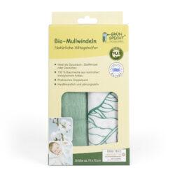 GRÜNSPECHT Naturprodukte Bio-Mullwindeln 2er Pack 4er VE, 70x70 cm, 100% Baumwolle (kbA), hergestellt in Deutschland 4x2Stück