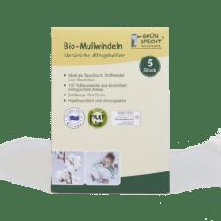 GRÜNSPECHT Naturprodukte Bio-Mullwindeln weiß 5 er Pack, 70x70 cm, 100 % Baumwolle (kbA) 5Stück