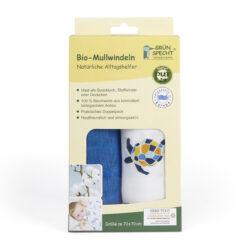 GRÜNSPECHT Naturprodukte Bio-Mullwindeln 2er Pack, 70x70 cm, 100% Baumwolle (kbA), hergestellt in Deutschland 2Stück