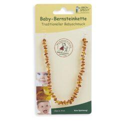 GRÜNSPECHT Naturprodukte GRÜNSPECHT Baby-Bernsteinkette Flachbarock Länge 34 cm, mit Sicherheitsverschluss 1Stück