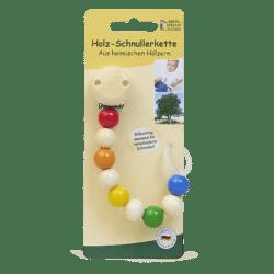 GRÜNSPECHT Naturprodukte GRÜNSPECHT Holz-Schnullerkette mit Silikonring sortiert 5x1Stück