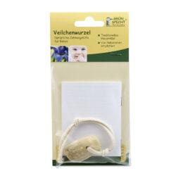 GRÜNSPECHT Naturprodukte GRÜNSPECHT Veilchenwurzel, natürliche Zahnungshilfe an 100 %Baumwollkordel kbA 1Stück