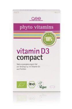 GSE  Vitamin D3 Compact (Bio), 60 Tabl. à 500 mg 30g