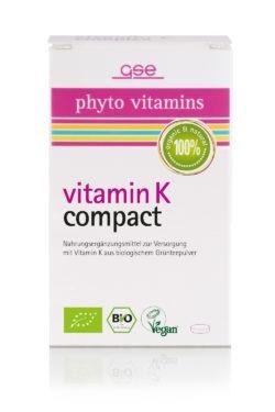 GSE  Vitamin K Compact (Bio), 120 Tabl. à 280 mg 34g