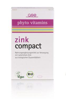 GSE  Zink Compact (Bio), 60 Tabl. à 500 mg 30g