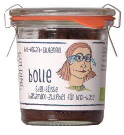 GUTDING Bolle, edel-süße Balsamico Zwiebel für Brot und Käse im original Weck-Glas, vegan und glutenfrei 6x100g