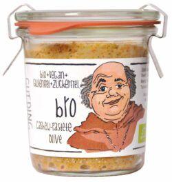 GUTDING Manufaktur Bro, Bio Cashew-Pastete Olive im original Weck-Glas, vegan, glutenfrei, ohne Zuc 6x100g