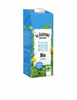 Gläserne Molkerei Bio-Weidemilch, haltbar 1,5 % Fett 12x1l