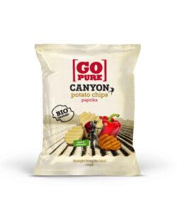 GoPure Canyon potato chips paprika 6x125g
