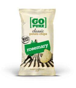 GoPure Classic potato chips rosemary 10x125g