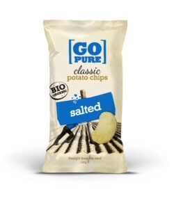 GoPure Classic potato chips salted vegan/glutenfrei 10x125g