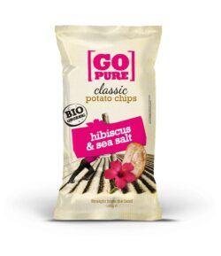GoPure Classic potato chips hibiscus & sea salt 10x125g