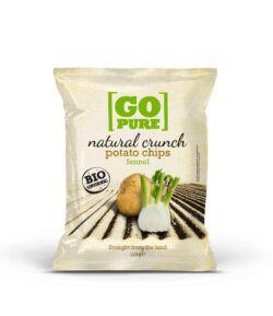 GoPure Natural crunch chips fennel 6x125g