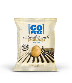GoPure Natural crunch chips salted 6x125g