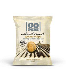 GoPure Natural crunch chips black pepper & sea salt 6x125g