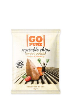 GoPure Vegetable chips sweet potato tomato & rosemary vegan/glutenfrei 6x80g