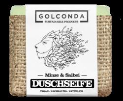 Golconda - Sustainable Products Golconda Duschseife - Minze & Salbei 65g