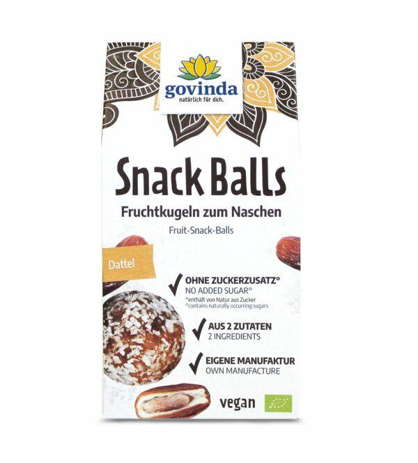 Govinda Snack Balls Dattel 6x100g