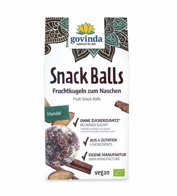 Govinda Snack Balls Mandel 6x100g