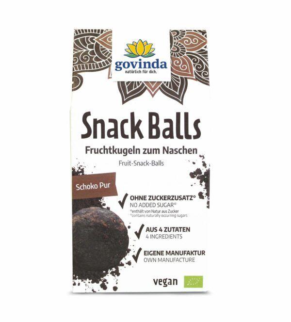 Govinda Snack Balls Schoko Pur 6x100g