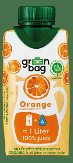 Green-Bag concentrated Bio Orangensaftkonzentrat 24x200ml