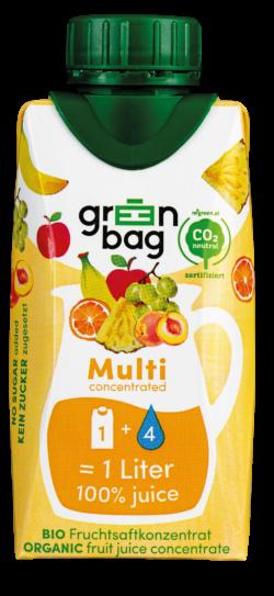 Green-Bag concentrated Bio Multifruchtsaftkonzentrat 24x200ml