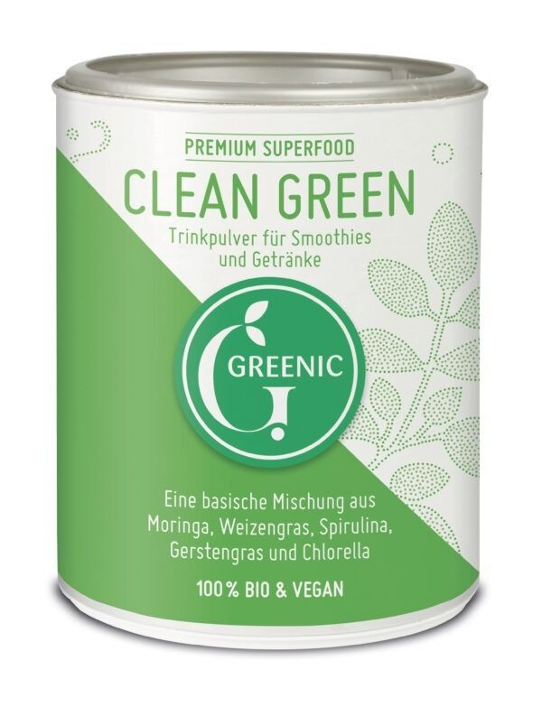 Greenic Clean Green Superfood Trinkpulver Mischung 100g