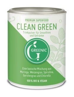 Greenic Clean Green Superfood Trinkpulver Mischung 4x100g