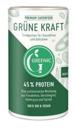 Greenic Grüne Kraft Superfood Trinkpulver Mischung 4x150g