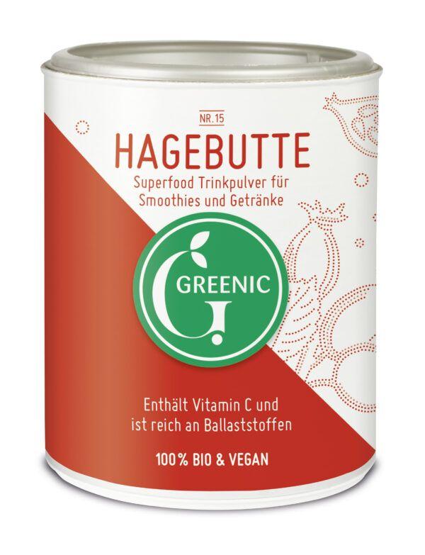 Greenic Hagebutte Superfood Trinkpulver 4x120g