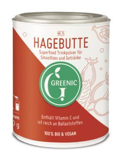 Greenic Hagebutte Superfood Trinkpulver 4x130g