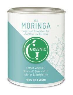 Greenic Moringa Superfood Trinkpulver 4x100g