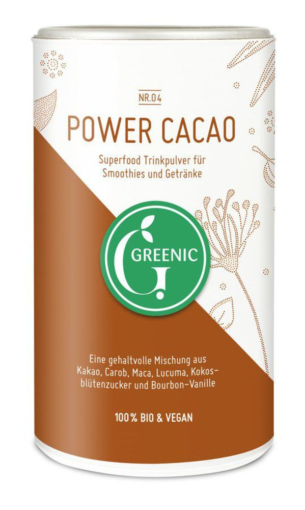 Greenic Power Cacao Superfood Trinkpulver Mischung 175g