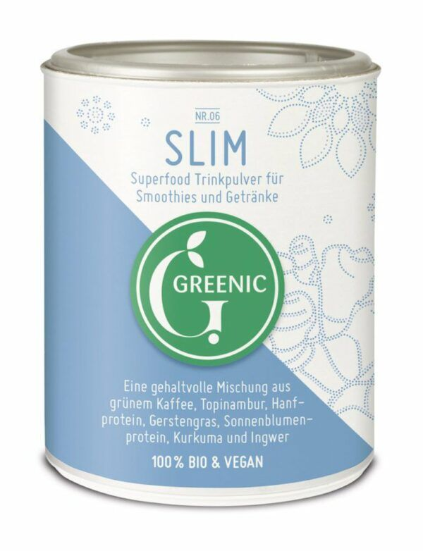 Greenic Slim Superfood Trinkpulver Mischung 100g
