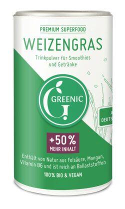 Greenic Weizengras Superfood Trinkpulver 4x150g