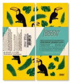 Groovy Goods Ökologisches Schwammtuch, , Yellow, Toucan 10x1Stück