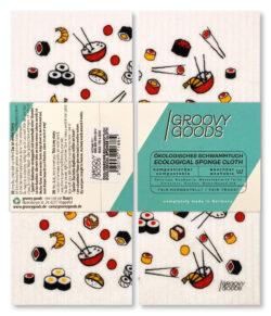 Groovy Goods Ökologisches Schwammtuch, , White, Sushi 10x1Stück